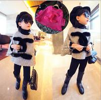 Wholesale - 2014 autumn and winter Han edition fur cloak shawls rabbit hair decoration cape coat of the girls