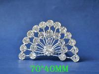 2014 New Fashion Wedding Bridal Crystal Rhinestone Crown Headband Jewelry Tiara Hair Comb Clip G008
