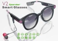 V2 Multi-use Bluetooth  Smart Glasses With Flash Light  HD Camera  Mp3 music Player glasses
