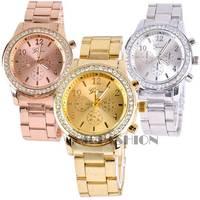 Hot Fashion New Geneva Watch Women dress Analog wristwatches women Casual watch 2014 Ladies Unisex Quartz watches SV007023 3F