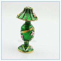 Delicate desk lamp shape jewelry box  women's graceful plain jewelry box SCJ187