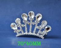 2014 New Fashion Wedding Bridal Crystal Rhinestone Crown Headband Jewelry Tiara Hair Comb Clip G0022