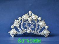 2014 New Fashion Wedding Bridal Pearl Crystal Rhinestone Crown Headband Jewelry Tiara Hair Comb Clip G0016