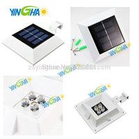 New Innovation Square Solar Fence gutter light with more lumen 4leds