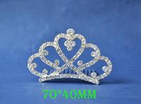 2014 New Fashion Wedding Bridal Crystal Rhinestone Crown Headband Jewelry Tiara Hair Comb Clip G009