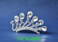 2014 New Fashion Wedding Bridal Crystal Rhinestone Crown Headband Jewelry Tiara Hair Comb Clip G0020