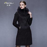 2014 Hot Winter Thicken Warm Women Down jacket Coats Outerwear Parka Luxury Fox Fur collar Hooded Plus Size 4XXXXL Long Cold