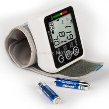 Health monitor Portable Household Blood Pressure Heart Beat Meter Sphygmomanometer Digital Wrist Tonometer fully bp casa