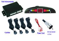 Car Parking System 4 Parking Sensor LED Display Indicator Sound Alarm Reversing Backup Radar System