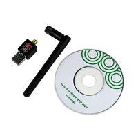 Wholesale-802.11n/g/b 150Mbps Mini USB WiFi Wireless Adapter Network LAN Card w/Antenna  100pcs/lot free shipping  by DHL