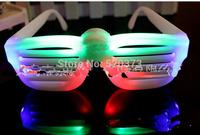 Popular Shutters Shape LED Flash Glasses four color For Dances / Party Supplies Decoration Glow Mask Christmas Halloween