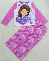 New Free shipping 4 sets/lot 4-10T My Little Pony Girl Thin Fleece Pajamas Suit Soft Sleeping Nightwear
