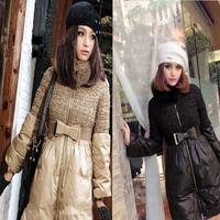2014 Fashion winter women long down jacket women duck  sweater dress coats ladies cute coats women parka plus size free shipping