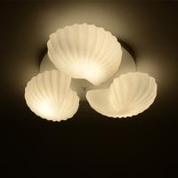 Free Shipping  modern minimalist bedroom den European IKEA creative restaurant lighting fixtures three conch Ceiling