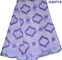 Free shipping, Making dress CL8377-6  100% cotton 5yard per pcs with high quality embroidery lace fabric
