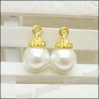 70 pcs high quality alloy accessories Crown pearl  earphones short design necklace diy handmade