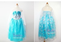 Free Shipping elsa costumes kids frozen fancy dress cosplay costumes for children S,M L XL XXL wholesale CXCC-8883