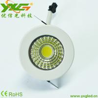 Free shipping 10pcs/lot Aluminum 3w spot led COB downlight Dimmable warm & cool white 110v 220v Wholesale