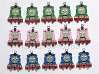 Free Shipping The Thomas Cartoon Train Key Figures Metal Charms Pendants Zinc Alloy Jewelry Making Lots