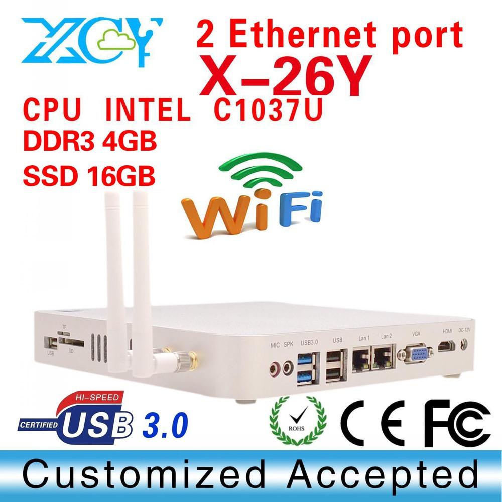 Good quality! Intel mini XP server pc C1037U thin client terminal XCY X-26Y dual core mini pc(China (Mainland))