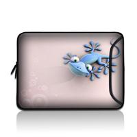 Free shipping fasion pink geocko neoprene 7'' laptop tab phone pc portable bag side pocket universal for apple pad comfortable(China (Mainland))