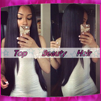 AAAAA Top Quality Yaki Straight human hair glueless wigs Virgin Brazilian lace front wigs with bleached knots for black women