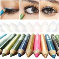 12 Color Mini Eyeliner Eye Liner Eyebrow Pencil Pen Cosmetic Makeup Set Tool Waterproof Brand New