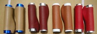 Wholesale can ship anywhere, Real Leather Stitched Bicycle Handlebar Grips/Pls Contact us for Wholesale