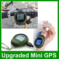 Upgrade Newest 24 POI Handheld Keychain Mini GPS with Digital Compass for Outdoor Travel bicycle Anti-thief