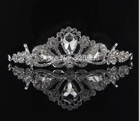 water drop crystal bridal tiaras wholesale rhinestone wedding crown hair wear jewelry wedding hair accessories