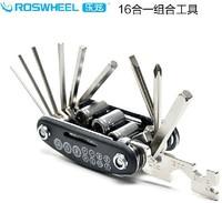 ROSWHEEL SAHOO 16 in 1 Ferramentas Bike Bicycle Cycling Repair Mini Multi Folding Repair Tool Tools Wrench Set Control Patch Kit