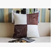 Creative fashion pillow pillows sofa cushion car modern simple handmade embroidery waist pillow cover
