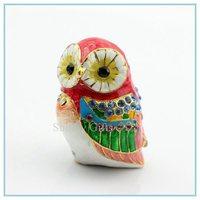 Handmade Owl shape Crystals trinket jewelry box Collectible jewellery Jewelry Trinket Box SCJ320-2