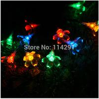 New 2014 SLSY1 10 LED Colorful Sakura Solar String Lights innovative decoration luminaria led string light ssolar powered