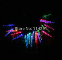 New 2014 SLI02 20 LED Colorful Ice Stick Solar String Lights innovative decoration luminaria solar powered lights led string