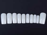 Free Shipping 500Pcs/lot  White French Acrylic Style Smooth Dazzling False Nail Art Stick Full/Half Wrap Choose