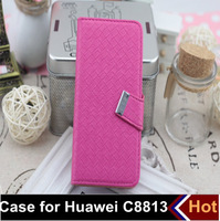 2 pcs/lot 6 colors free shipping Huawei C8813 case, mobile phone case bag, leather bag for Huawei C8813
