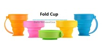 Travel folding cup mini retractable cup silicone outdoor travel portable cup