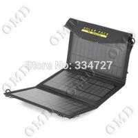 Portable Folding 10W 5V Solar Charging Bag - Black