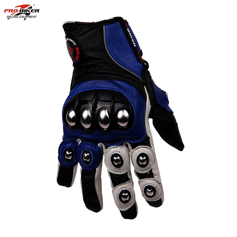 2016 New PRO-BIKER Genuine Leather Motos gloves Driving luvas Motorcycle knight Gloves motocross ...