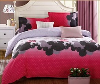 Home textile,Reactive Printed 4pcs bedding set luxury include Duvet Cover Bed sheet Pillowcase, Queen size,