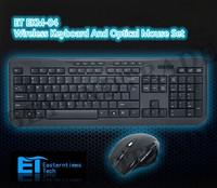 ET EKM-04 2.4GHz Wireless Keyboard And Optical Mouse Set 30m Transmission 1000/1500/2000 CPI Adjustable 8 Multi-media Keys
