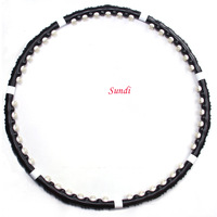 Factory Black Magnetic Massage Hula Hoop Adjustable Detachable Hula Hoop Lifestyle Essential Lose Weight Free Shipping