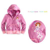 2014 Hot Sell Sophia Girls Cartoon Casual  Jacket Girl Zipper Coat K6243
