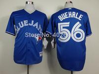Wholesale baseball blue jays #56 Mark Buehrle blue jerseys, please read size chart before order