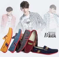 2014 Free shipping brand men spring moccasins slip on men platform loafers huarache espadrilles men flat driver shoes male
