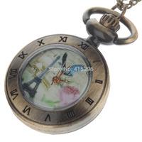 Retro Elegant Quartz Analog Women's Pocket Watch w/ Necklace Chain - Bronze (1 x 377S) Free Shipping 253133