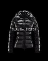 New Arrive 2014 Monclearing Women Short Down Coat-Black Size XS-XL Down Jackets for Women,Free Shipping Women Winter Down Parkas