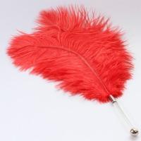 Great design Multifunctional grass dildo feather tickler, 16cm grass dildo pipe with D:1.5cm metal ball, flirting sex toys