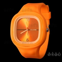 Free shipping Charming Sport Silicone Jelly SS.COM Watch